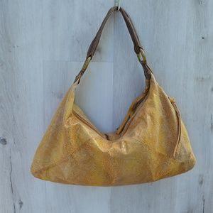 HOBO Snakeskin Embossed Genuine Leather hobo purse